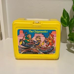 Vintage Alvin & the Chipmunks Thermos Lunchbox
